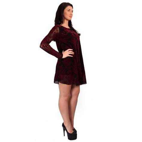 burgundy swing dress burgundy and black damask lace swing dress from parisia