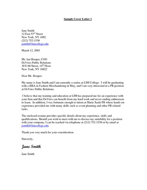 cover letter for pr job 100 cover letter exles