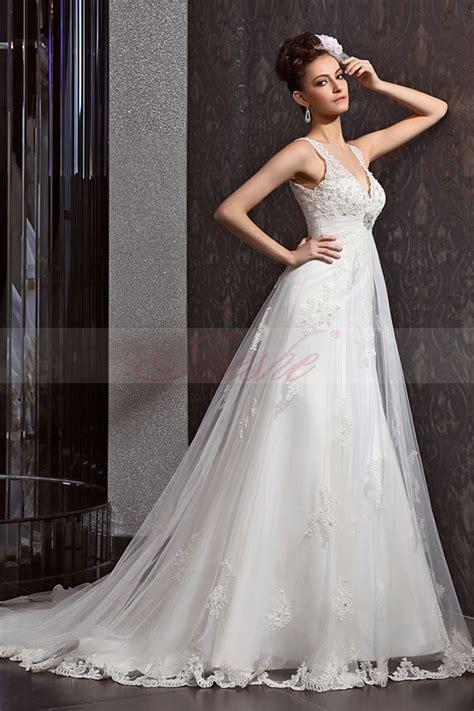 Beautiful Elegant Lace Wedding Dress 2014   Shinedresses.com