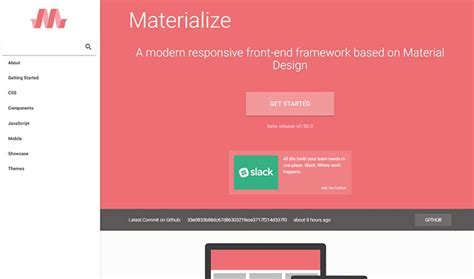 tutorial materialize css the best free frontend web frameworks right now