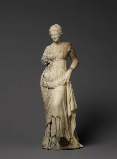ancient greek woman sculpture statuette of a woman getty museum