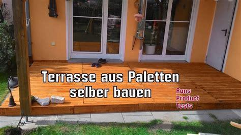 Terrasse Aus Paletten Bauen by Diy Holz Terrasse Aus Paletten Selber Bauen Schritt F 252 R