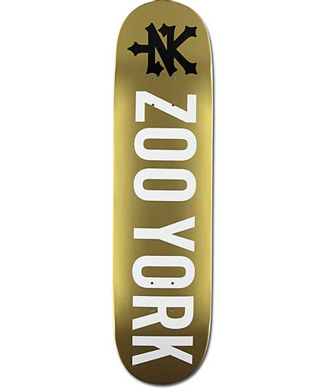 gold skateboard deck zoo york photo incentive gold 8 0 quot skateboard deck