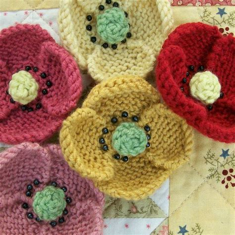 knitted flowers 226 best images about crochet knit poppies on