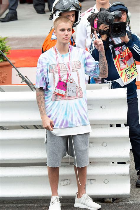 justin bieber wears adidas nmd sneakers at monaco grand