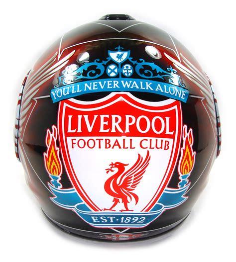 Helm Liverpool custom painted helmet gallery liverpool futbol