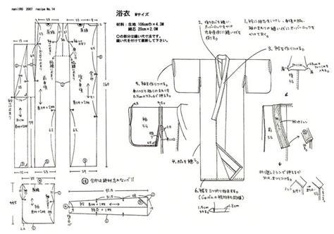 kimono pattern construction kimono pattern nani iro sew what pinterest
