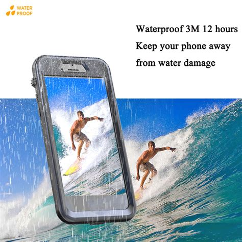 Waterproof Underwater Diving Shockproof Screen Touch Cover For Iphone 3 waterproof snowproof shockproof dirtproof touch screen for iphone 7 8 alex nld