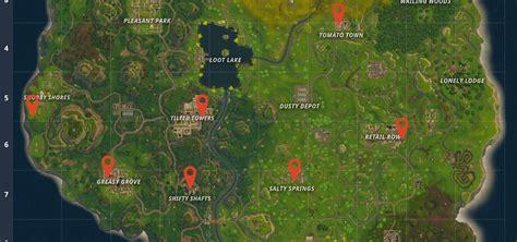 fortnite treasure map follow the treasure map found in retail row