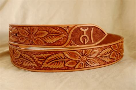 Handmade Cowboy Belts - handmade western leather belt patterns lone tree leather