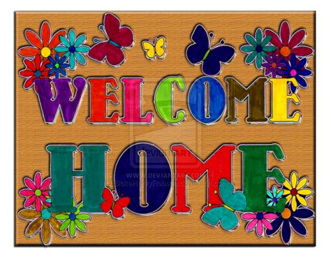 welcome home sign by blakehenryrobson on deviantart