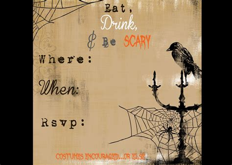 printable halloween party invitations print secrets of a modern mama free printable halloween