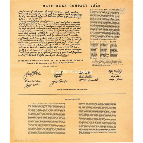 Mayflower Compact Essay by Mayflower Compact 1620 Store Ushistory Org