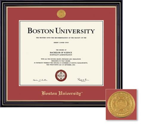 Bu Mba Tuition Deposit by Barnes Noble Boston Bookstore Framing