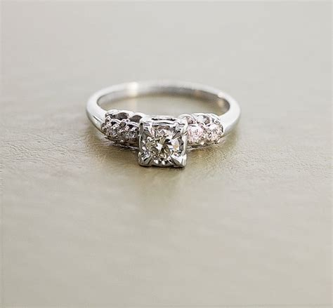 Vintage Verlobungsring by 1940s Engagement Ring Vintage Gold And Ring