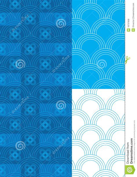 pattern theme photography half circle blue theme pattern seamless eps stock vector