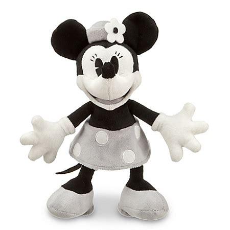 disney plush black and white minnie mouse plush toy    7'' h