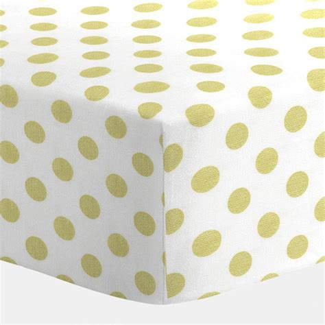 white and gold dot crib sheet carousel designs
