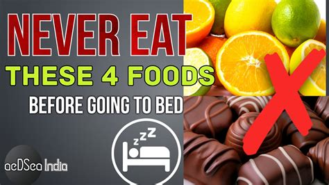 when should you stop eating before bed 4 foods you should never eat before bed time health