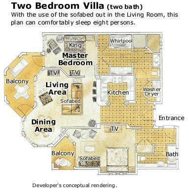 marriott grande vista 2 bedroom villa floor plan marriott desert springs villas ii two bedroom villa