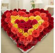 060 Arreglo En Forma De Corazon Con 50 Rosas Rojas Pictures To Pin On