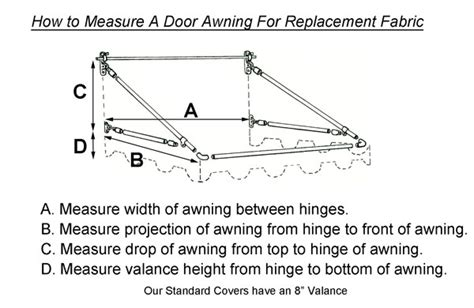 How To Build An Awning by Replacement Fabric For Door Awnings Pyc Awnings