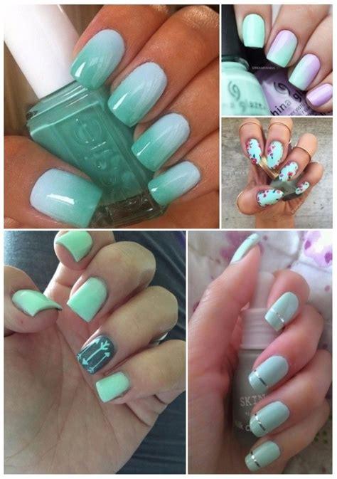 imagenes de uñas acrilicas color verde menta decoraci 243 n para u 241 as verdes 161 50 dise 241 os que te encantar 225 n