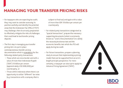 Transfer Pricing Mba Notes by Bdo Transfer Pricing Services