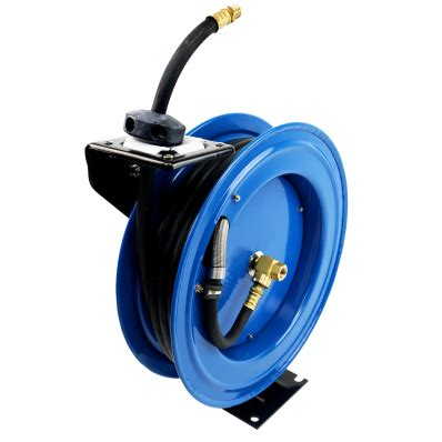 50ft 15m retractable 3 8 air line compressor hose reel 163 64 99 oypla the