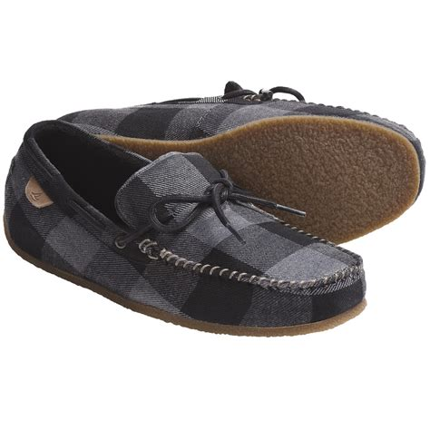 sperrys slippers sperry top sider r r moccasin slippers fleece lining