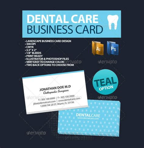 Free Dental Business Card Templates by 31 Dental Business Card Templates Free Psd Vector