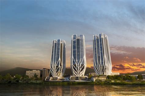 Home Design Ideas Singapore zaha hadid architects designed brisbane tower trio