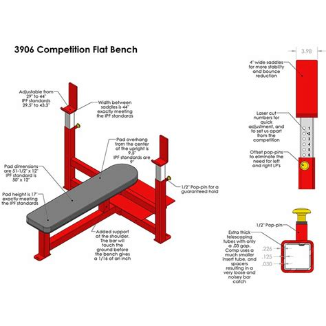 bench competition legend fitness competition flat bench press 3906