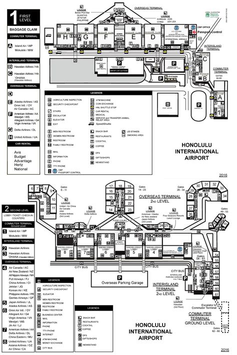 honolulu airport diagram popular 275 list honolulu airport map