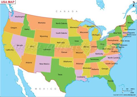 america map with states us map or map of united states of america shows 50 usa