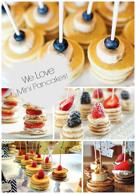 Brunch Foods For Baby Shower by Mini Pancake Stacks Brunch Foods That Rock