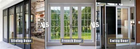 Sliding Door Vs French Door Vs Swing Door Sliding Glass Doors Vs Doors