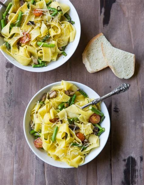 pappardelle pasta recipe vegetarian simple vegetable pappardelle