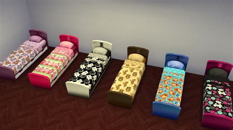 mod 4 sims bed teddy bear kiddie s bed set by lauren cheerio at mod the