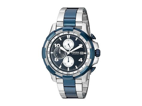 Fossil Fs 5149 lyst fossil dean fs5149 in blue for