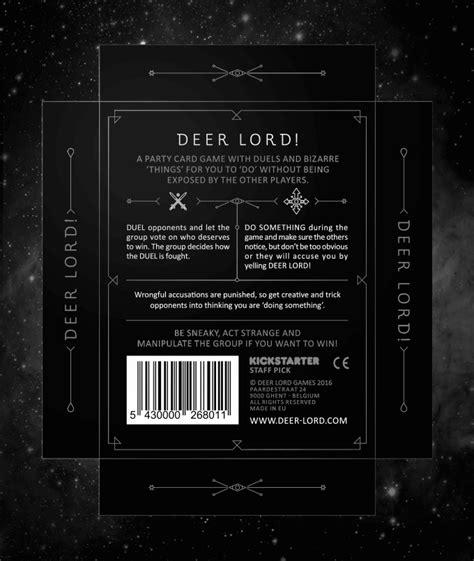 game box layout board game box design deer lord