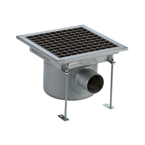 Floor Drain Stainless 2 floor drains and collecting tanks floor drain with stainless steel grate horizontal outlet