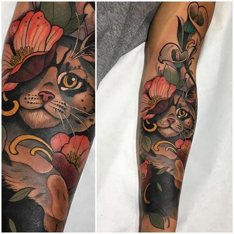 tattoo sleeve cat 881 best images about cat tattoos on pinterest cats