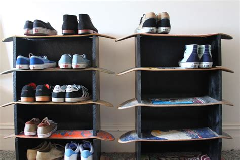 skateboard rack on skateboard storage