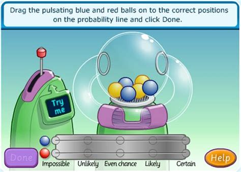 tutorial online game interactive probability game for kids ball picking