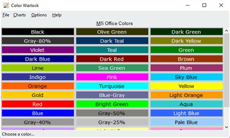 color maker free color chart maker software with color picker copy