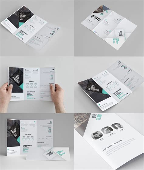 corporate tri fold brochure template free psd download