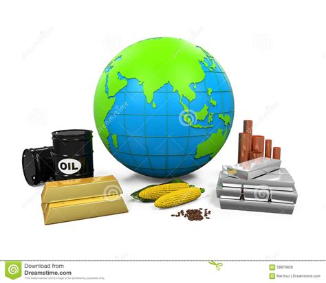 oil commodity commodities oil corn gold and silver royalty free