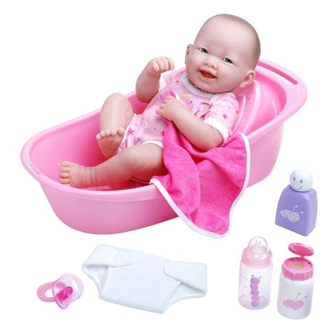 Baby Doll 1 Set jc toys 14 quot la newborn bathtub baby play set toys dolls accessories baby dolls