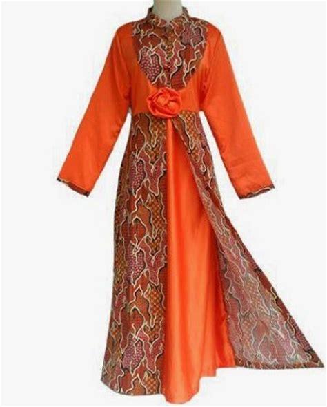 desain baju batik gamis terbaru aneka model baju gamis batik terbaru untuk pesta